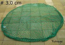 Rundes Heuraufennetz 2,0m MW3cm 4mm Kordel gewebt Heunetz für Rundraufe