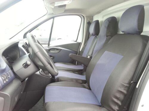Passgenau Schonbezüge Sitzbezug 2+1 Sitzbezüge Grau für Opel Vivaro 2014
