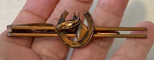Vintage USA Men/'s Tie Bar Clip Jewelry Awesome Modernist See Through Gold Tone Design by Hickok