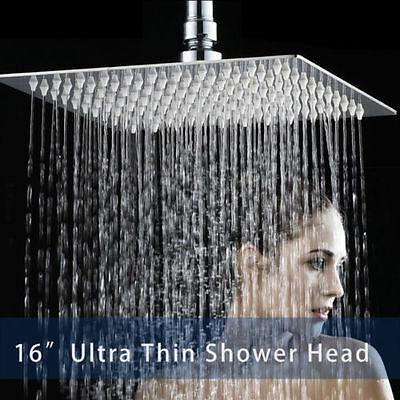 Stainless Steel Shower Head Wall//Ceiling Mounted Rainfall Top Sprayer Chrome NEW