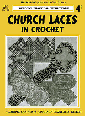 Weldon's 4D #128 c.1937 Vintage Crochet Patterns to Make Church Laces
