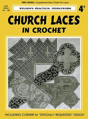 Weldon's 4D #128 c.1937 Vintage Crochet Patterns to Make Church Laces