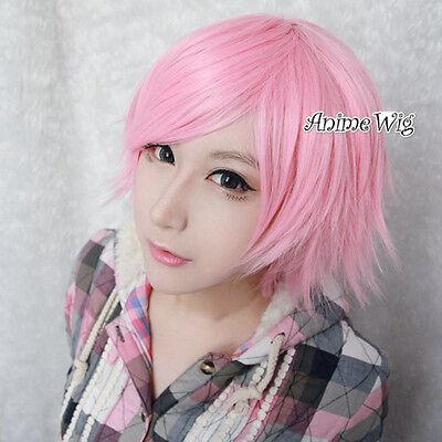 RWBY Rosa Kurz Glatt Cosplay Wig Anime Perücke Haare Party Halloween 30cm Haar