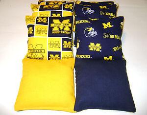 Magnificent Details About Bean Bag Toss Game Cornhole Bags Michigan Wolverines Set Of 8 Tailgate Toss Lamtechconsult Wood Chair Design Ideas Lamtechconsultcom