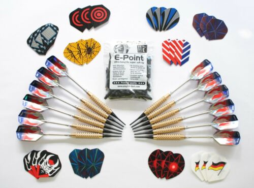 12 Darts MIT 30 FLYS AND 100 Soft Lace from Empire Dart Top Quality