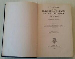 VINTAGE-MEDICAL-BOOK-1952-NURSING-DISEASES-SICK-CHILDREN-ILLUSTRATED-770-PAGES
