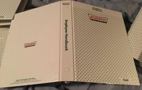 Krispy Kreme 3 Ring Binder Notebook Employee Handbook Field
