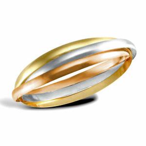 9ct-3-Colour-Gold-Russian-Wedding-Ring-4mm-Bangle-Bracelet-UK-Jewellers