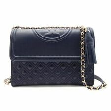 B12 Tory Burch Fleming Black Leather Convertible Shoulder Bag