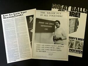 Jerry Lee Lewis Boogie Woogie Country Man Era 1973 Article & Poster Type Ad