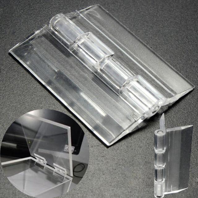 1/3/6Pcs Clear Acrylic Plastic Hinges Box Piano Plexiglass Hinge Size:45×38mm