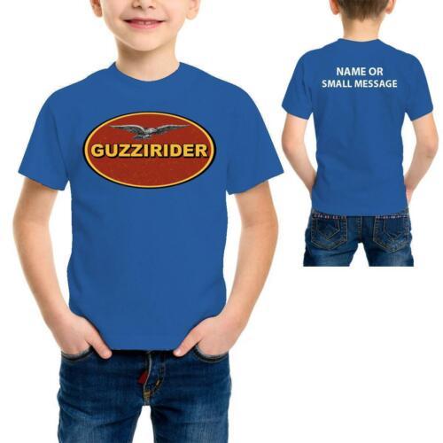 Moto Guzzi rider Kids Stripes  inspired T shirt  Racing Biker Motorcycle