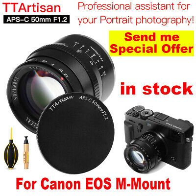 TTArtisan 50mm F1.2 APS-C Cameras Lens Manual Focus MF Compatible ...