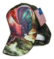 Chicken Rooster #3 Camo Camouflage Printed Baseball Cap Hat