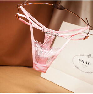 Women-039-s-Lace-Luxurious-Panties-Underwear-Thongs-Lingerie-G-string-Floral-Briefs