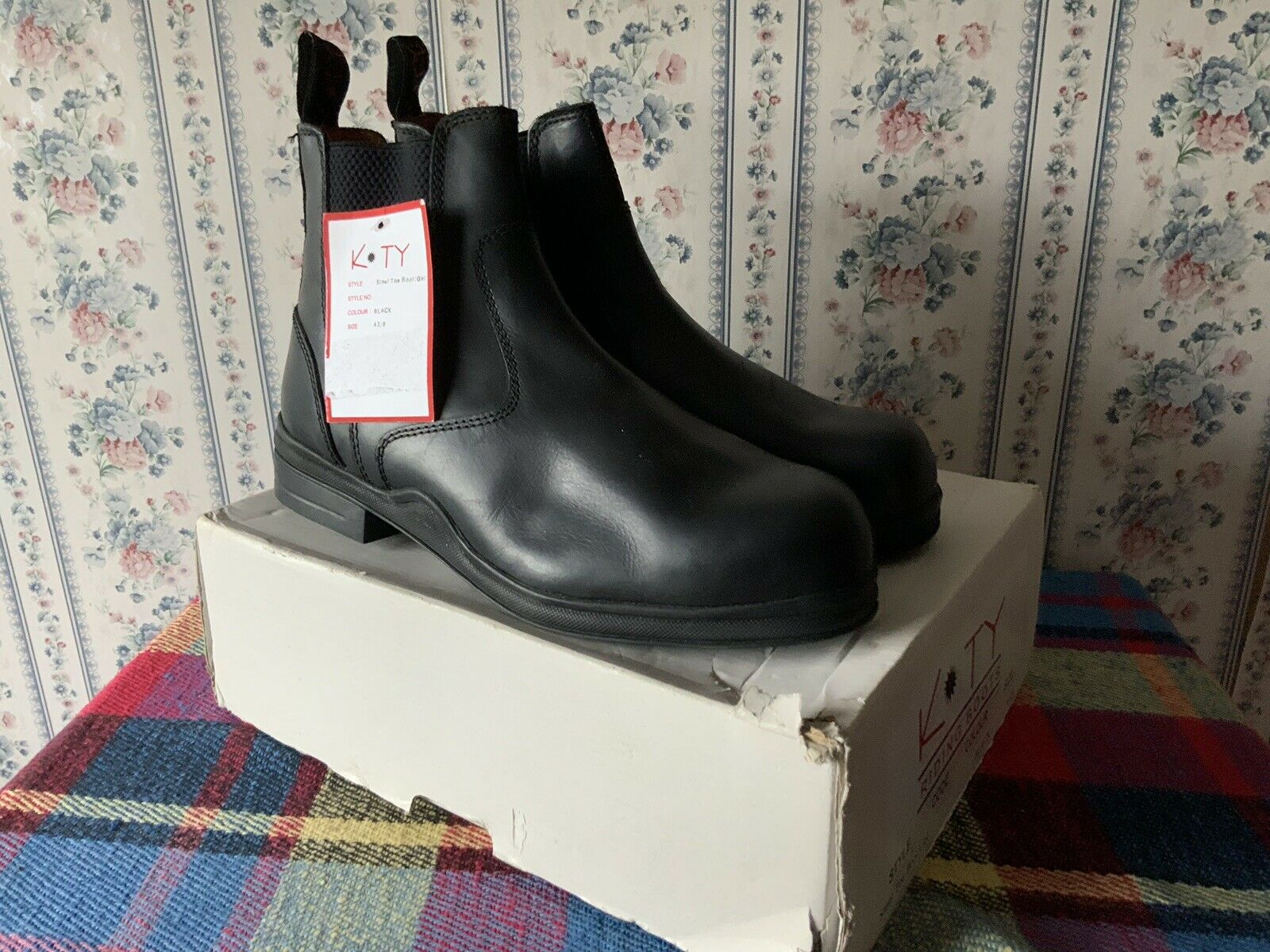 New Unused Kty Short Riding Stiefel - Größe 9 43  SAFETY STEEL TOECAPS COLLEGE