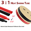 thumbnail 19 - Marine Grade Dual-Wall Adhesive Glue Lined Heat Shrink Tube 3:1 Ratio Black/Red