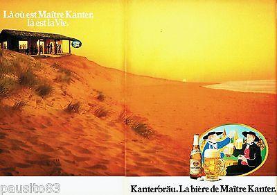 Publicite Advertising 106 1983 La Bière De Maitre Kanter Kanterbrau Driving A Roaring Trade 2p