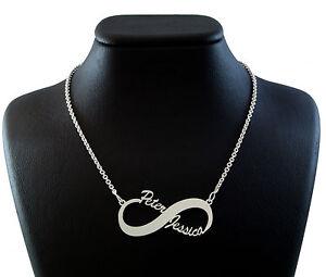 Das Bild wird geladen Unendlich-Namenskette-925-Silber-Kette-mit-Wunschname- Unendlichkeit- 99a46316c5
