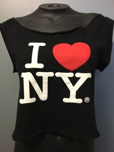 Ladies Cropped I ❤️ NY Sexy Tank Top Belly T-shirt