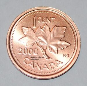 2003 Old Effigy Zinc CANADA 1 Cent Uncirculated Non-Magnetic Penny UNC