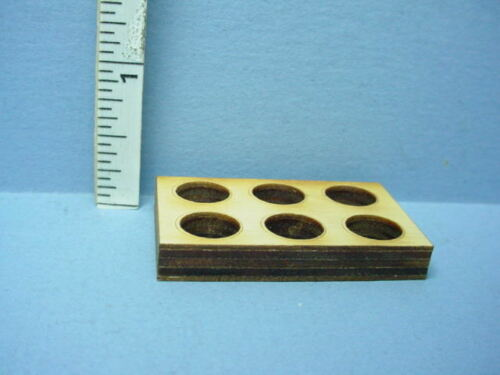 6  hole Dollhouse Miniature Crate Insert//Divider Laser Cut Wood 1//12th Scale