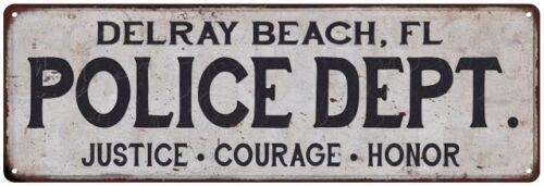 FL POLICE DEPT Home Decor Metal Sign Gift 106180012534 DELRAY BEACH