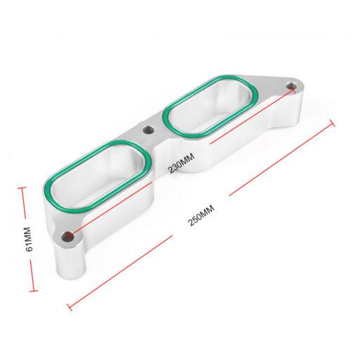 Silver Car Intake Manifold Spacers For 2013-17 Subaru BRZ Scion FR-S Power Block