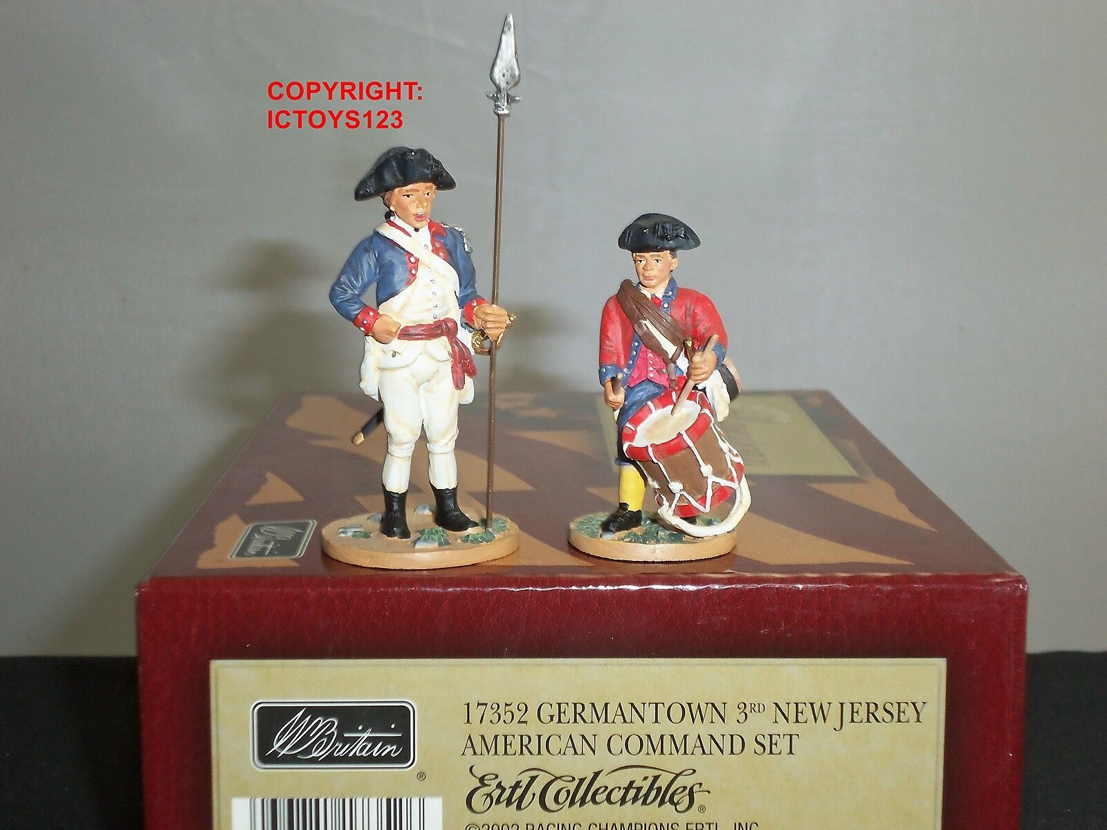 Britains 17352 american 3RD new jersey regiHommes t toy toy toy soldier figure command set cf1843