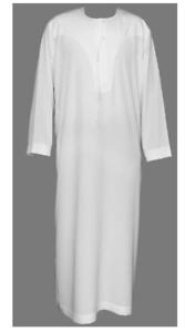 Al Othaiman Men White Jubba Thobe Arab Classic Robe WithTrousers Size 62