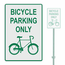 """BICYCLE PARKING ONLY HEAVY DUTY ALUMINUM SIGN 10"""" x 15"""""""