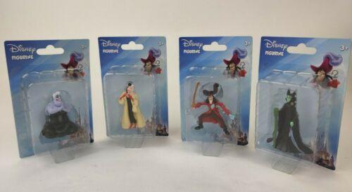 Disney Figurine Villains Set Of 4 Captain Hook Cruella Ursula Maleficent Figures