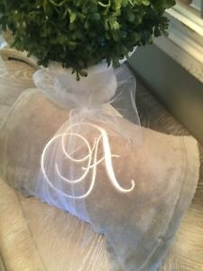 Monogramned-Blanket-Personalized-Throw-50x60-Embroidered-Single-Initial-Monogram