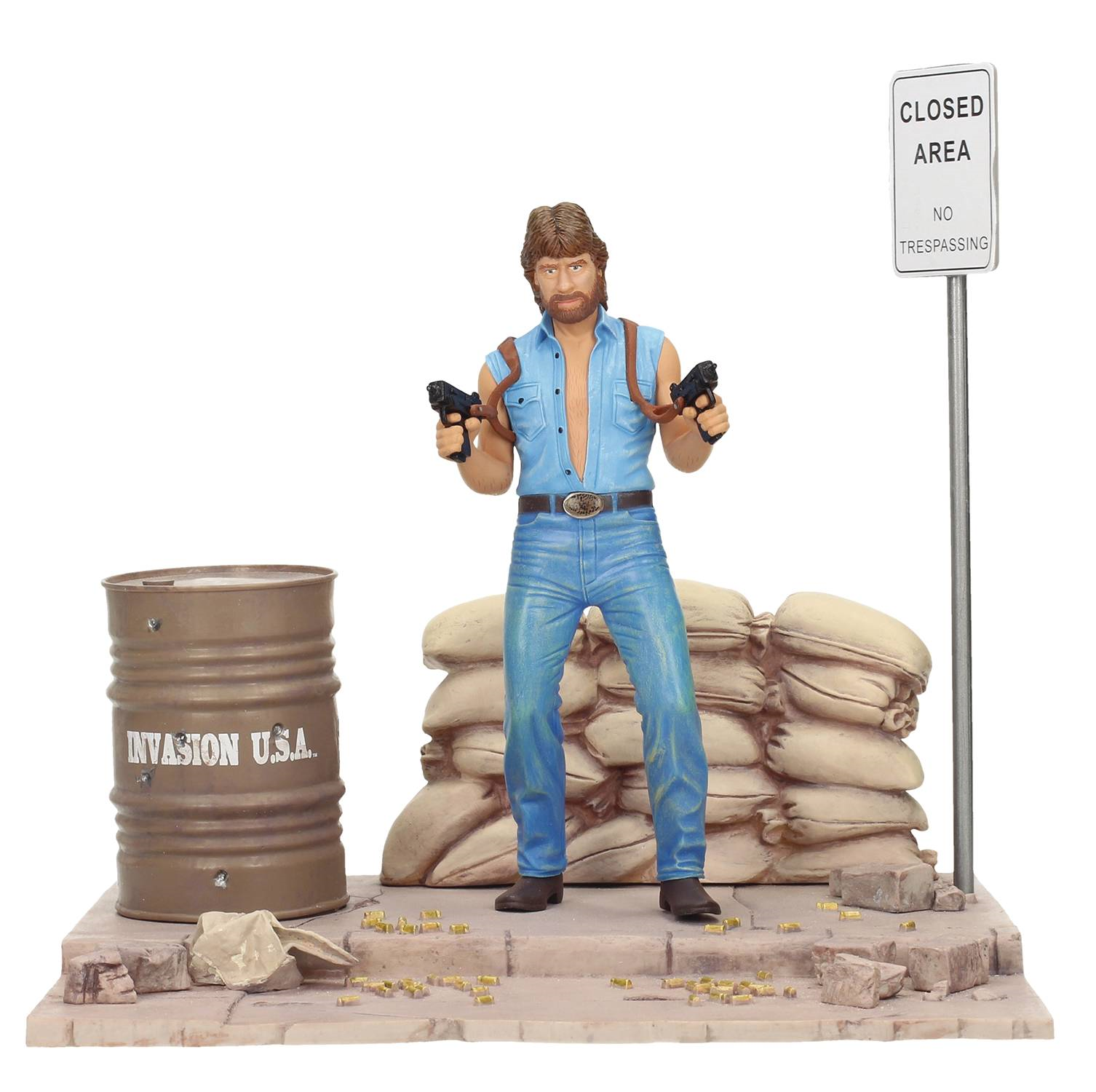 Movie icons invasion der usa matt jäger 7  - figur mit diorama