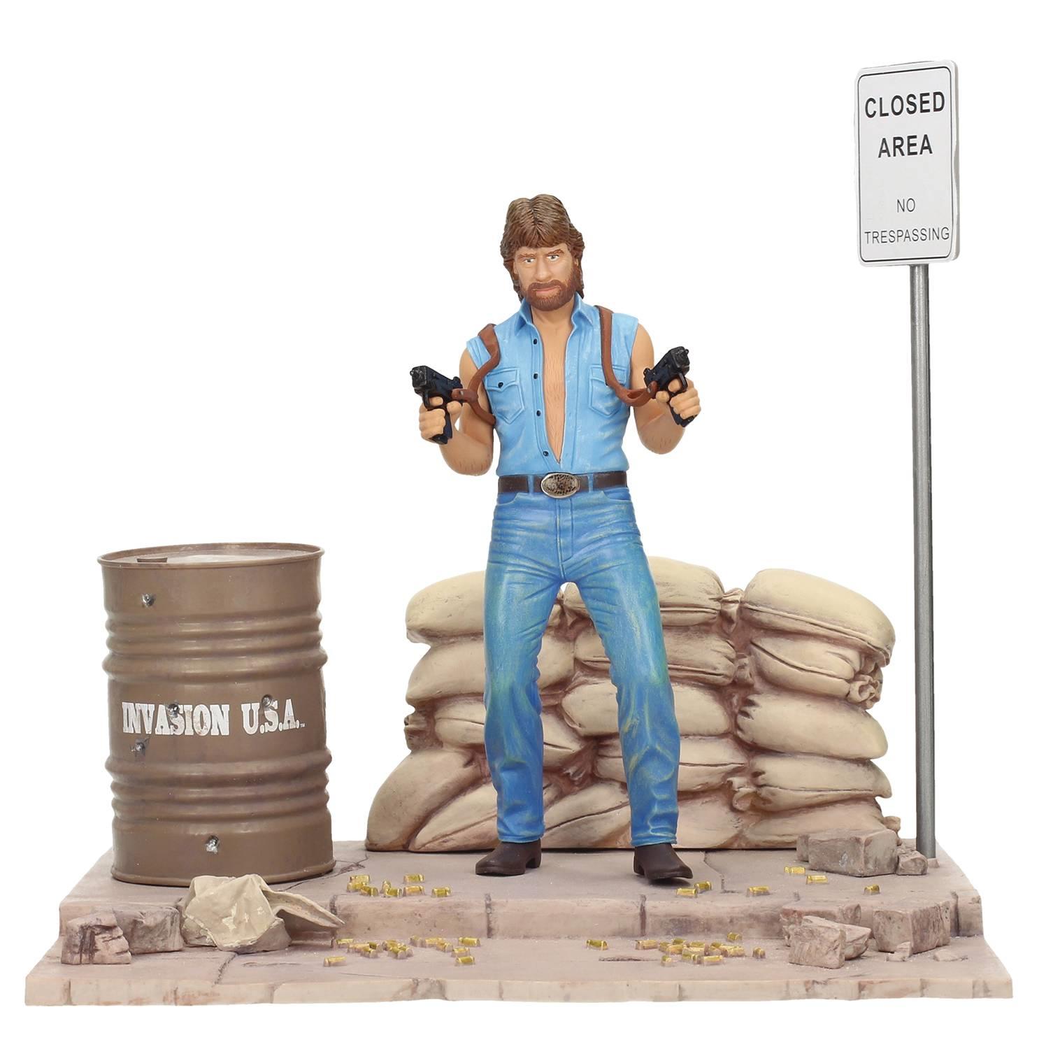 Movie icons invasion der usa matt jäger 7  - figur mit diorama