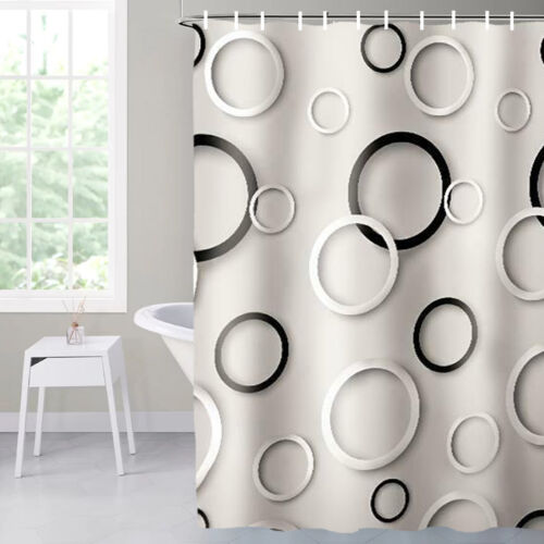 New Printed Shower Curtain Waterproof Polyester Fabric Bathroom Shower Curtains