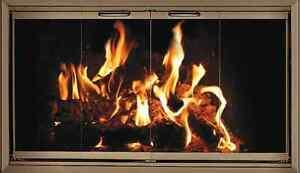 Bronze finish Fireplace Glass Doors for Heatilator fireplace HE36 ...
