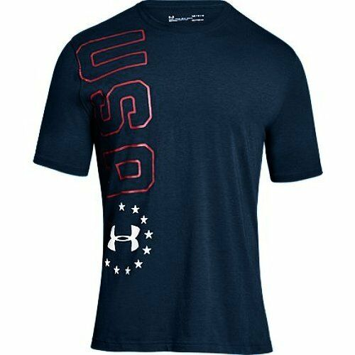 Pick SZ//Color. Under Armour Apparel Mens Freedom USA Vertical T-Shirt