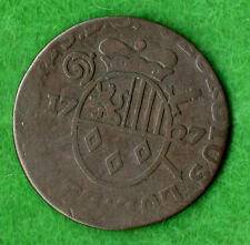 Liege ( Belgium ) Liard 1727 Copper Coin Listed As Rare In Krause
