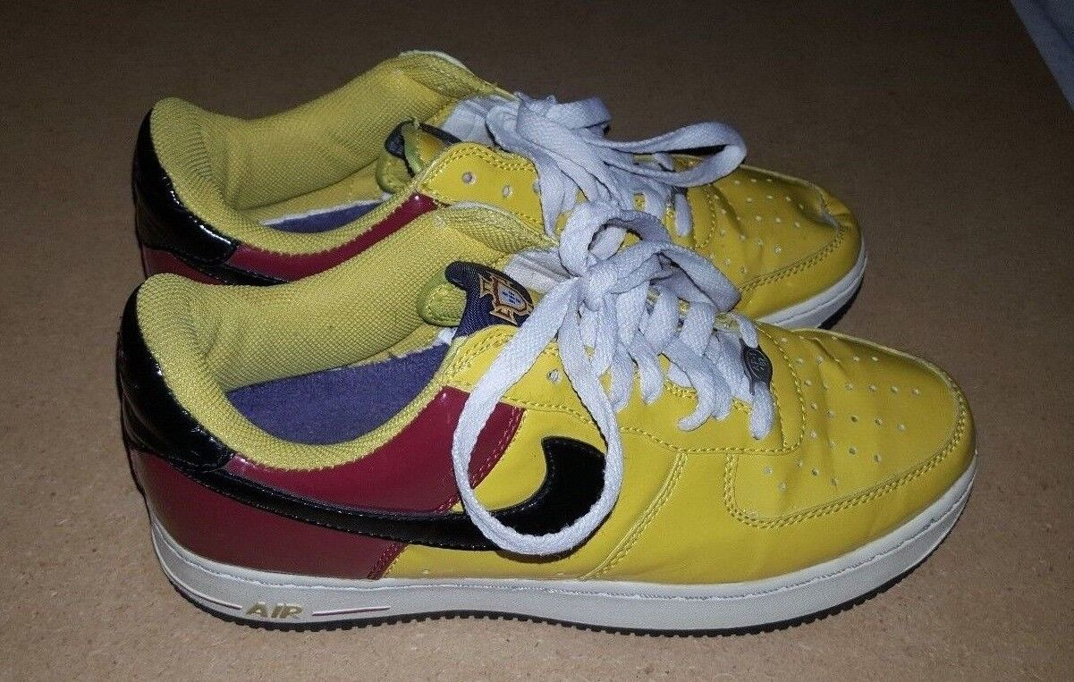 Nike Air World Force 1 Premium Portugal World Air Cup OG  Supreme Vintage Rare Yellow Sz 8 672a22