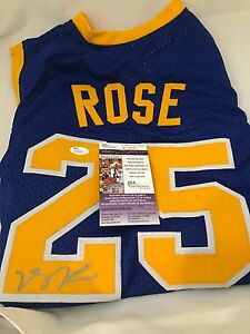 size 40 495c8 55314 Details about DERRICK ROSE BULLS KNICKS Signed SIMEON HIGH SCHOOL Jersey  JSA COA