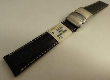ZRC France Black Shark 18mm Watch Band Steel Deployment Sealock Clasp $34.95