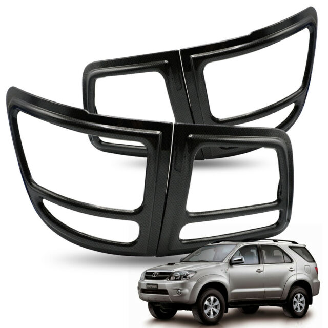 rear tail lamp lights cover trim carbon black for toyota