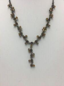 VCLM-Vintage-Yellow-rhinestone-Lariat-necklace-adjustable-V125