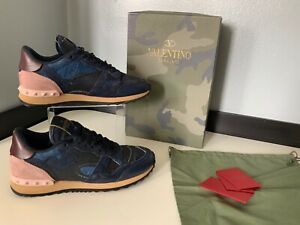 25c1ef18ba4b9 Valentino rock stud Trainers Sneakers Size 37 Uk 4 Vgc Box Dust Bag ...