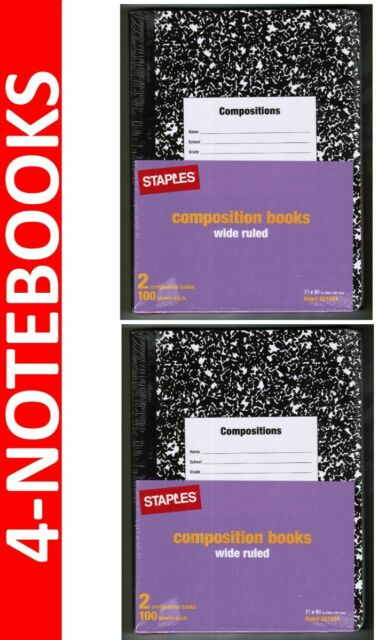4-Staples NOTEBOOKS Composition Notebook 9 75 x 7 5