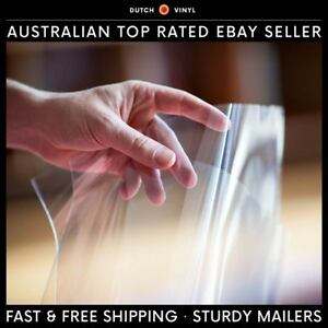 """100 X Record Outer Sleeves for Single Vinyl 12"""" Lp's Blake Crystal Clear Premium"""