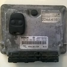 MG ZR/ROVER 25 2.0 TD DIESEL ENGINE ECU YLMSB101151 COMPLETE 1 KEY FOB 2 BUTTON
