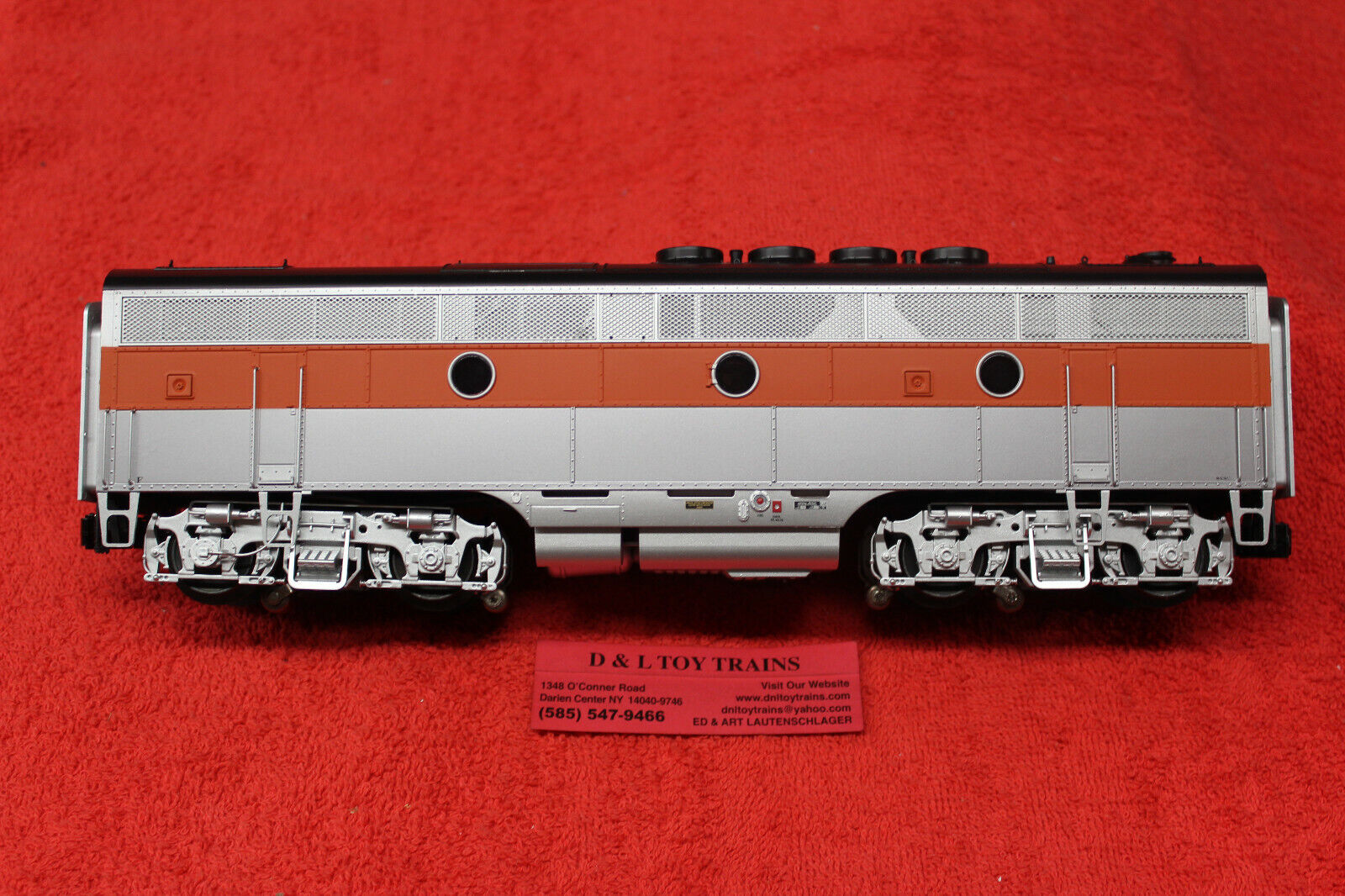 1638 Western Pacific Phase 2 (early) F3 B Unit Engine 3 Rail TMCC NEW IN BOX