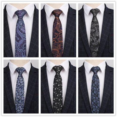 24 Colors 7CM Ties for Men paisley Necktie Formal Men/'s Tie Wedding Business